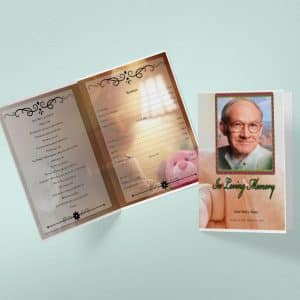 Infant Tabloid Funeral Program Word Template