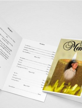 Dying Funeral Program Template