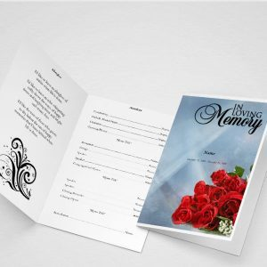 Crossing The Bar Funeral Program Word Template