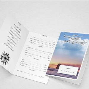 The Garden of Promise Funeral Program Template