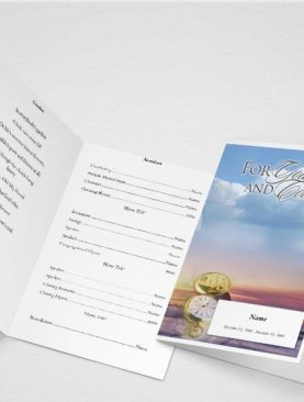 Garden of Promise Funeral Program Template