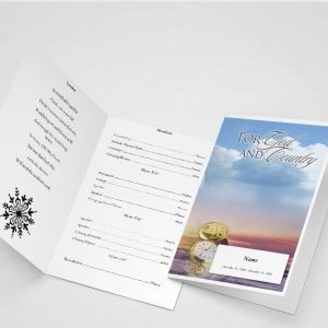 Garden of Promise Funeral Program Word Template