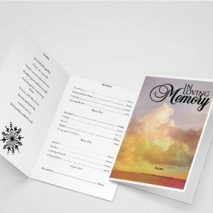 Demise Funeral Program Word Template