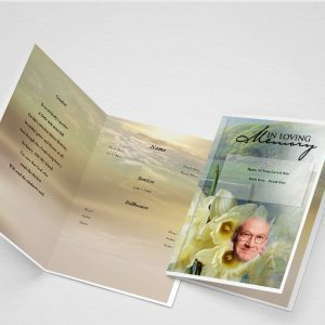 Bloom Funeral Program Word Template