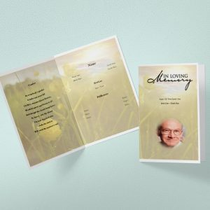 Brown View Funeral Program Template