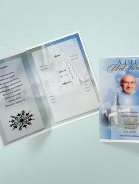 Cloud Cover Funeral Program Template