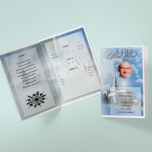 Cloud Cover Funeral Program Template