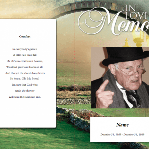 Comforter Funeral Program Word Template
