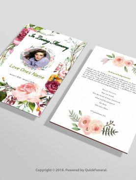 Floral Funeral Flyer Template