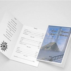 Comforting Funeral Program Template