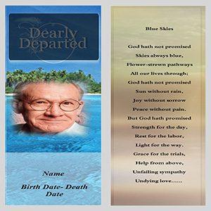 Funeral Bookmark Template