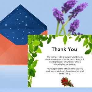 Green Leaf Thank You Card Template