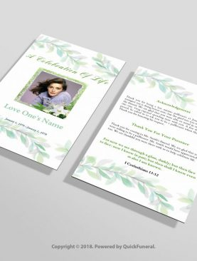 Irish Green Funeral Invitation Template