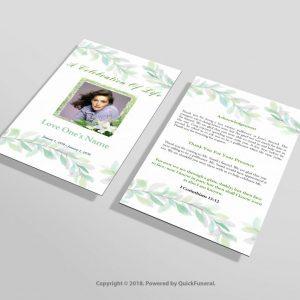 Irish Green Funeral Invitation Template