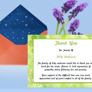Irish Green Thank You Card Template