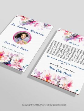Luxury Funeral Flyer Template