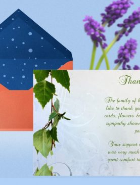 Natural Thank You Card Template