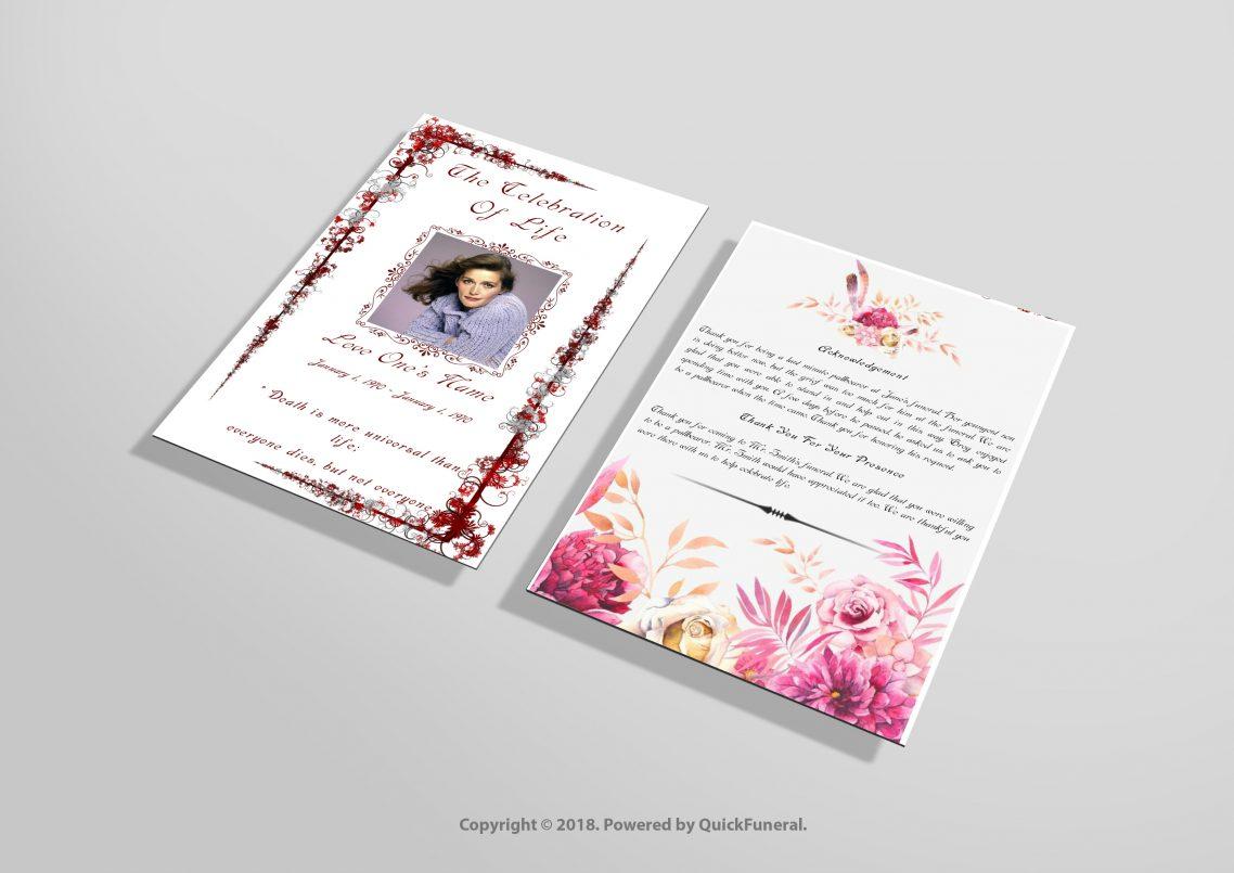 Funeral Programs Designs