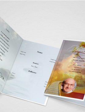 Terra Funeral Program Template