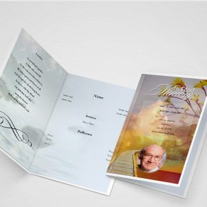 Terra Funeral Program Word Template
