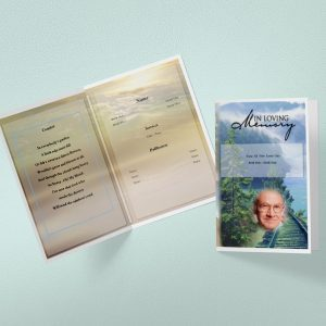 Tree Branch Funeral Program Word Template
