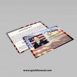 US Army Funeral Announcement Template