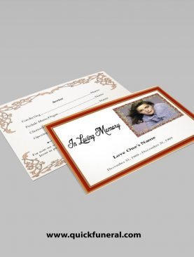 Wooden Funeral Announcement Template