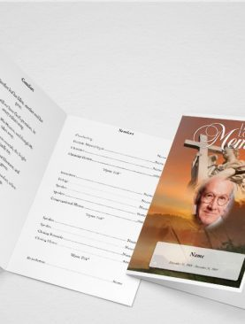 Spangle Funeral Program Template