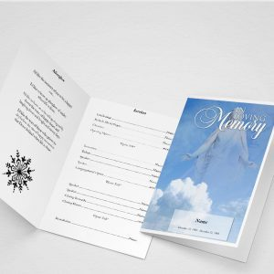 Comfort Funeral Program Word Template