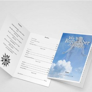 Crossing Funeral Program Word Template