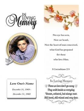 Golden Circle Funeral Bookmark