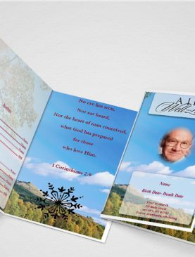 General Card Funeral Program Template