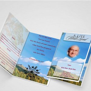 General Card Funeral Program Word Template