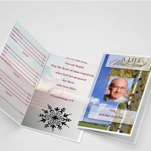 Nature Park Funeral Program Word Template