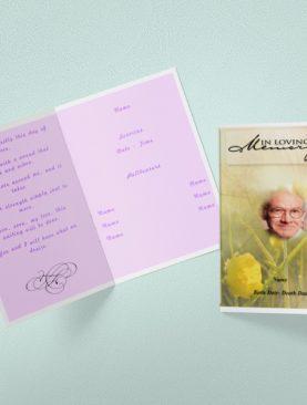 Peace Garden Funeral Program Template