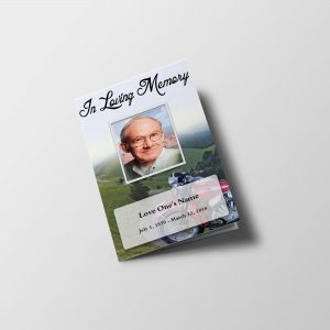 Bike Ride Funeral Program Word Template