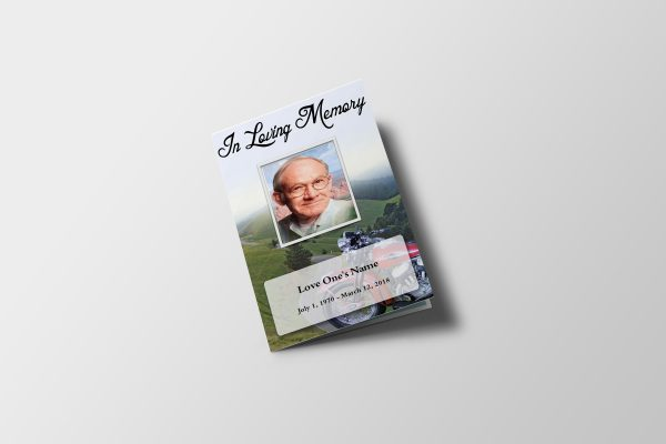 Bike Ride Funeral Program Template