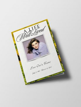 Sunflower Funeral Program Template