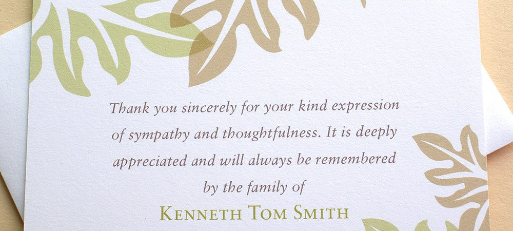 Funeral Acknowledgment