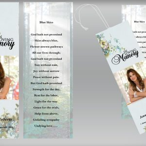Royal Natural Funeral Bookmark Template
