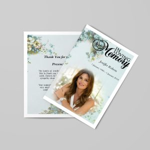 royal natural funeral program template promo