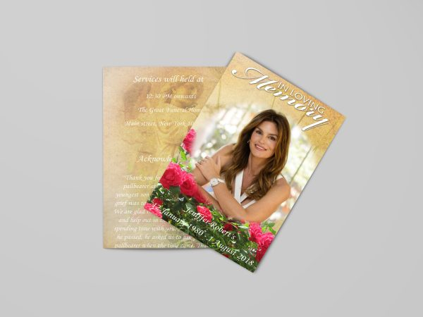 women-special-funeral-program-template-back-front