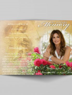 Women Special Funeral Program Template