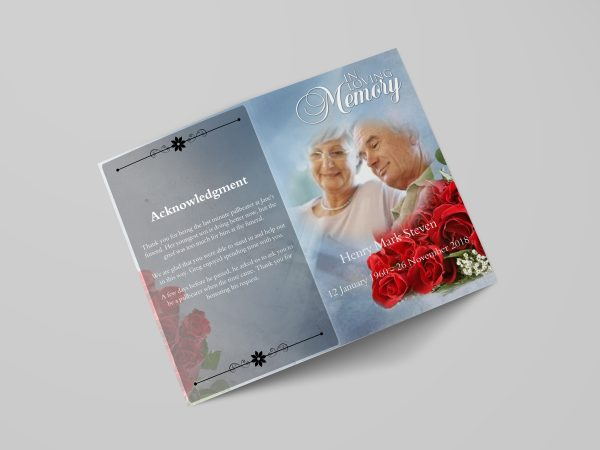 Decent Funeral Program Template stylish cover