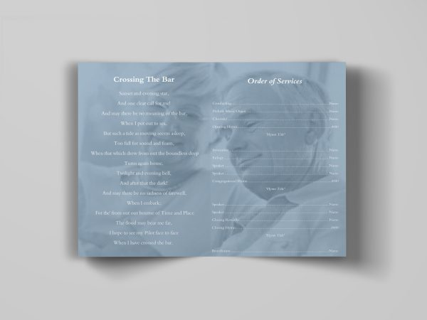 Decent Funeral Program Template stylish Inside