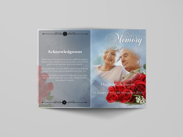 Decent Funeral Program Template simple cover