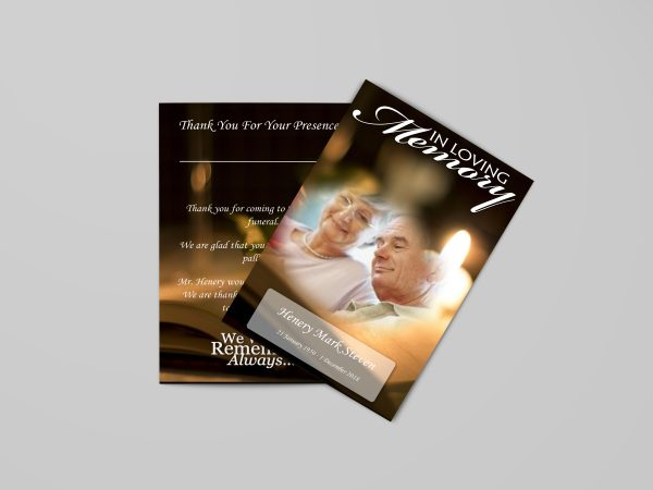 bible funeral program template stylish