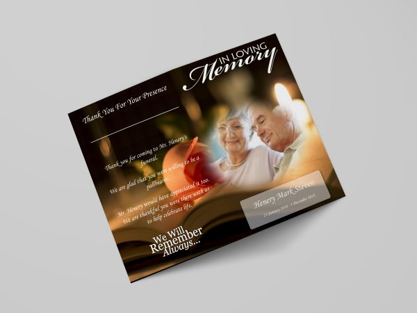 bible funeral program template stylish cover