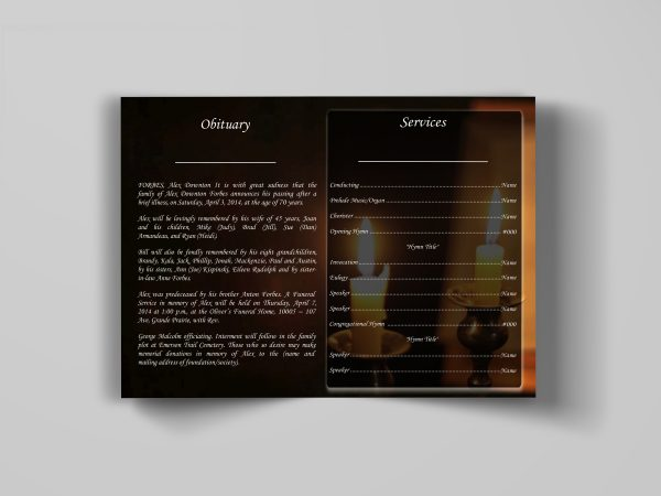 bible funeral program template stylish inside