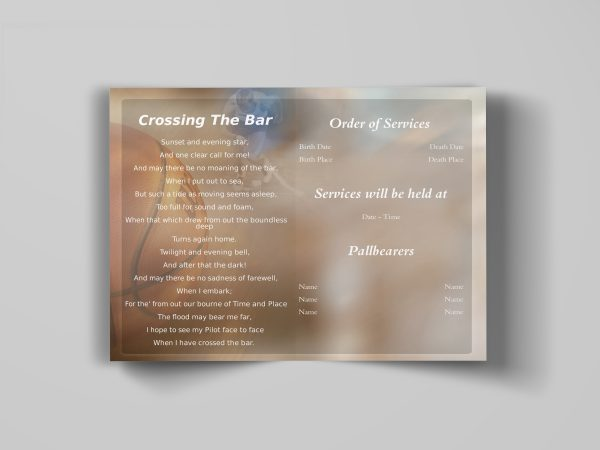sports theme funeral program template inside simple